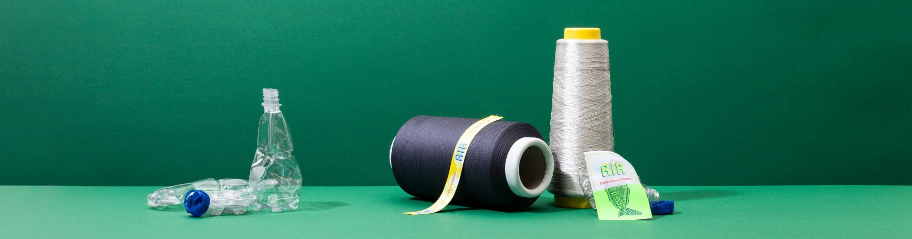 Labels van gerecycled garen